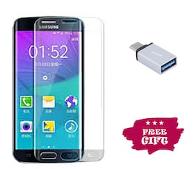 TEMPERED GLASSES Edge To Edge Tempered Glass For Samsung Galaxy S6 Edge