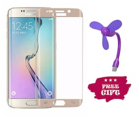 Best Selling Samsung Galaxy S6 Edge 6D Tempered Glass by Tempered Glasses USB Fan Free
