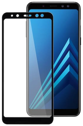 TEMPERED GLASSES Edge To Edge Tempered Glass For Samsung Galaxy A8 Plus