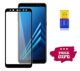 Best Selling Samsung Galaxy A8 Plus 6D Tempered Glass by Tempered Glasses Get a Memory Card Reader Free