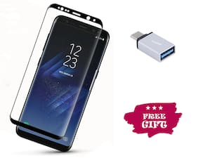 Best Selling Samsung Galaxy S8 6D Tempered Glass by Tempered Glasses Type-C OTG Free