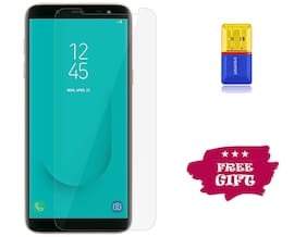 Best Selling Samsung Galaxy J6 6D Tempered Glass by Tempered Glasses Get a Memory Card Reader Free