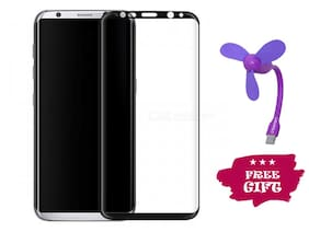 Best Selling Samsung Galaxy S8 Plus 6D Tempered Glass by Tempered Glasses USB Fan Free