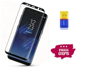 Best Selling Samsung Galaxy S8 6D Tempered Glass by Tempered Glasses Get a Memory Card Reader Free