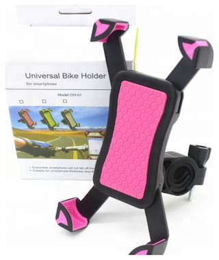 Bike Mobile Holder Motorcycle Mount & Stand for Mobile GPS Rotatable for All Bike Handle Grip