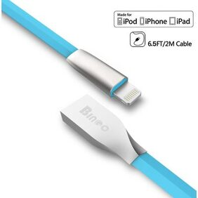 Bingo CB-IPH01 8 Pin to USB with 2.4 Amp Fast Charging & Data Sync Usb Cable For All Ipads, ipods, iphones Ranges