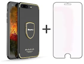 Bingo Premium Back Cover For Apple iPhone7 Plus & Apple iPhone8 Plus - Mate Black with Free Tempered Glass
