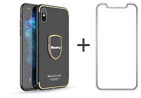 Bingo Premium Back Cover For Apple iPhone X (Mate Black) with Free iPhone X Tempered Glass