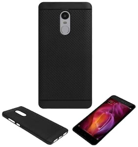 Black Dotted Case Cover For Redmi Note - 4