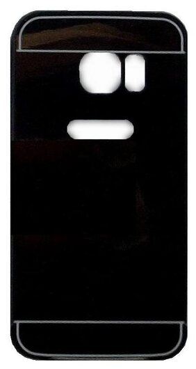 Black Mirror Finish Hard Back Cover for S7 Phone