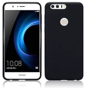 Rubberised Matte Hard Case Back Cover For HUAWEI Honor 8 Pro (Black)