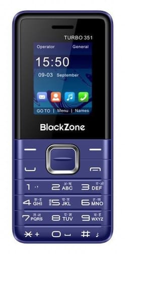 BlackZone Turbo351, 1.8 inch Display features phone (Blue)