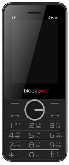 Blackbear i7 1450 mAh 2.4  Dual SIM Grey  Mobile With free Back Cover