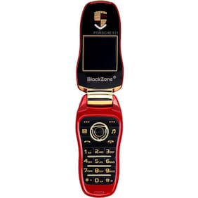 "BlackZone Porsche 911, 1.44"" Key  Features phone (Red)"