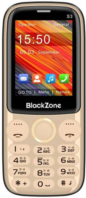 """BlackZone S3, 2.4"""" Display Features phone  (GOLD)"""
