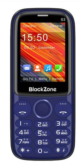 "BlackZone S3, 2.4"" Display Features phone  (BLUE)"