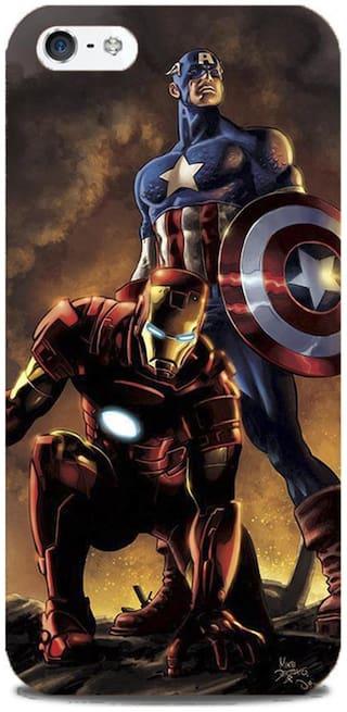 Blu Dew iPhone 5/5S Mobile Case - Captain America & Ironman