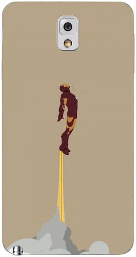 Blu Dew Samsung Galaxy Note 3 Mobile Case - Flying Ironman