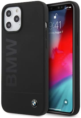 Apple iPhone 12 Pro Max Silicone Back Cover By BMW ( Black )