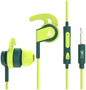 boAt BassHeads 242 In-Ear Wired Headphone ( Green )