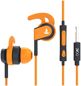 boAt BassHeads 242 In-Ear Wired Headphone ( Orange )