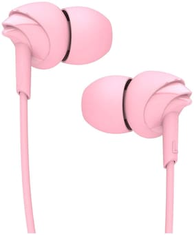 boAt BassHeads 100 In-Ear Wired Headphone ( Pink )