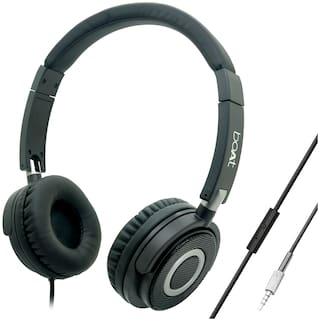 boAt BassHeads 910 On-Ear Wired Headphone ( Black )