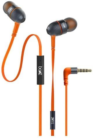 boAt Bassheads 220 In-Ear Wired Headphone ( Orange )