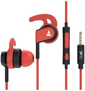 boAt Bassheads 242 In-Ear Wired Headphone ( Red )