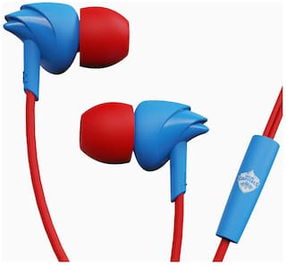 boAt BassHeads 100 Delhi Capitals Edition BassHeads 100 Delhi Captains Edition In-Ear Wired Headphone ( Blue )