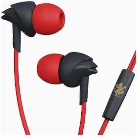 boAt BassHeads 100 Royal Challengers Bangalore Edition BassHeads 100 Royal Challengers Bangalore Edition In-Ear Wired Headphone ( Red )