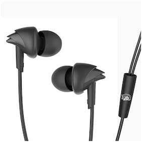 boAt BassHeads 100 Chennai Super Kings Edition BassHeads 100 Chennai Super Kings Edition In-Ear Wired Headphone ( Black )