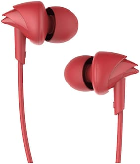 Boat Bassheads 100 In-ear Wired Headphone ( Red )