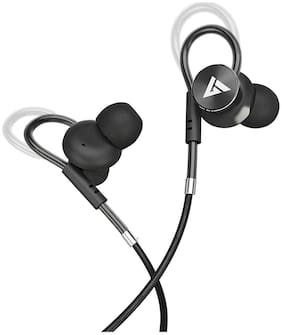 Boult Audio Bassbuds Loop In-Ear Wired Headphone ( Black )
