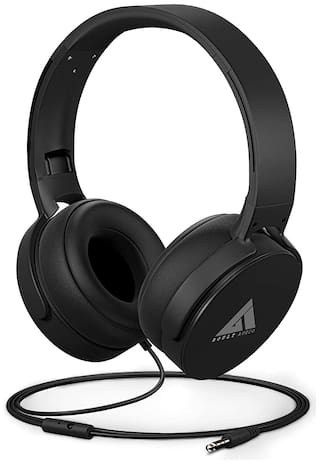 Boult Audio Bass Buds Q2 Over-Ear Wired Headphone ( Black )