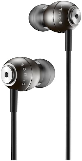 Boult Audio BassBudsStormX In-Ear Wired Headphone ( Black )