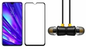 Britney World Tempered Glass with Wired Earphone For Realme C11