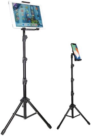 BROLAVIYA Tripod Floor Stand for 4'-11' inch, Compatible with iPad Galaxy Ipad, Tablet, Mobile PCs