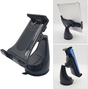 BROLAVIYA ICEBERG MAKERS.IN Headrest Suction Car Holder Stands for Both Mobile Phones and iPad Galaxy Tablets Use Size 4'-10.1' inch - Black