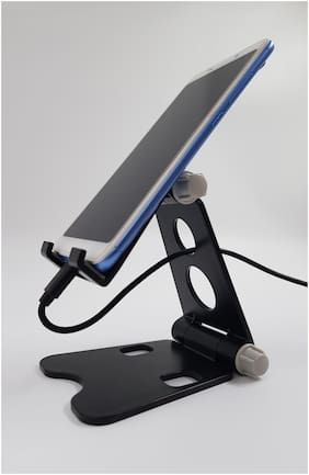 BROLAVIYA ICEBERG MAKERS.IN ABS Plastic Material Desktop Cellphone Dock Stand with Anti-Slip Base and Convenient Charging Port, Fits Smartphones/Tablets