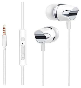 BS Power EZ466- White In-Ear Wired Headphone ( White )