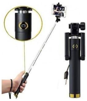 QUXXA Pocket Extendable Selfie Stick Handheld Monopod With 3.5MM Aux Cable