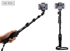 QUXXA YT-1288 Extra Long Selfie For Best Pictures With Bluetooth Remote For All Smart Phones