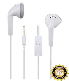 Buddies Cart EHS61-ASFWE Galaxy A20s Universal-17 In-Ear Wired Headphone ( White )
