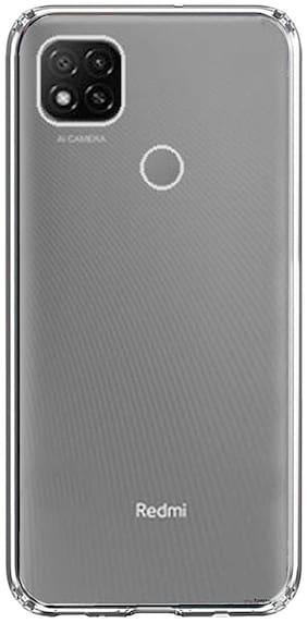 Buddies CartSilicone Back Case Cover Compatible for Xiaomi Redmi 9 & 9C | Transparent Ultra Clear Soft Case | Slim & Protective Design | Inbuilt Bumper Corners