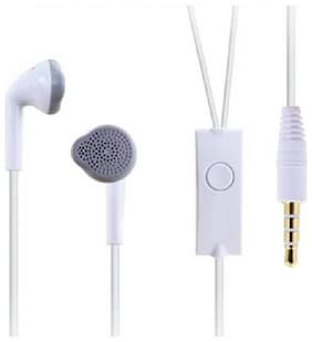 AVYUKTA Earphone SMG Wired Stereo Bass Head Hands-Free Headset Earbud in-Ear Headphone with Mic, Calling 3.5mm Jack-02 In-Ear Wired Headphone ( White )