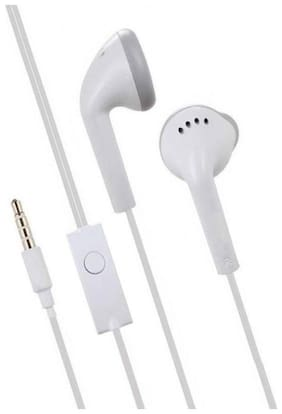 BUDDIES CART Earphone smg wired stereo bass head hands-free headset earbud in-ear headphone with mic, calling 3.5mm jack-05 In-ear Wired Headphone ( White )