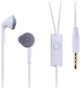 AVYUKTA Samsung Galaxy J7 Duo In-Ear Wired Headphone ( White )