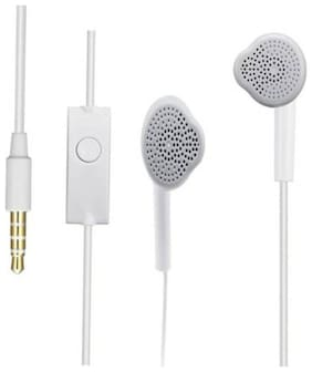 AVYUKTA  samsung ys earphone ehs for vivo/oppo/mi/honor Wired Headset with Mic  (White  In the Ear)