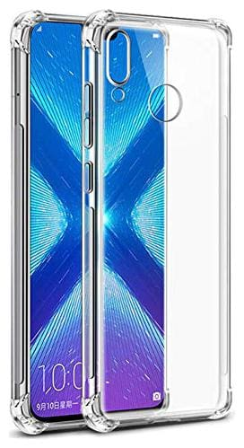 EXOTIC FLOURISH Silicone Back Cover For Honor 8x ( Transparent )